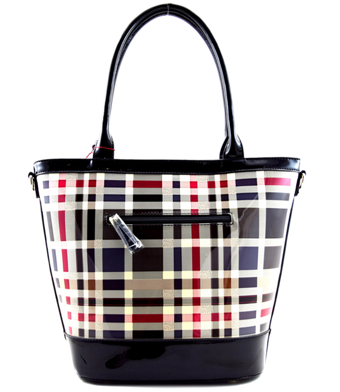 Brentwood Plaid Handbag Black2
