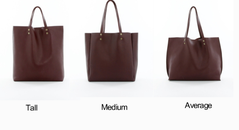 Genuine Leather Tote Sizes Burgundy