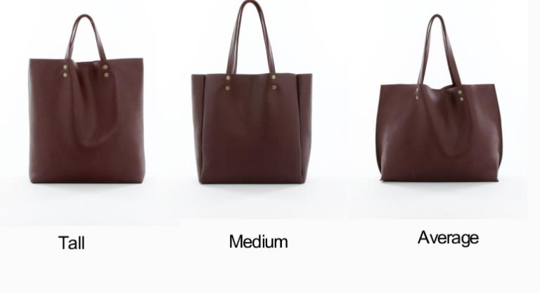 Genuine Leather Tote Sizes Burgundy