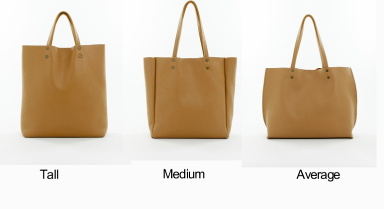 Genuine Leather Tote Sizes Camel