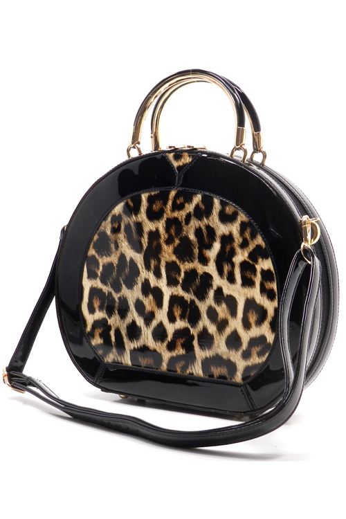 Nadia Round Leopard Bag Brown4