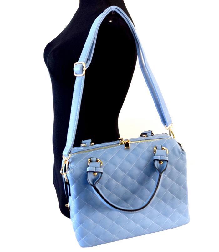 Martina Quilted Boxy Handbag Lt Blue2