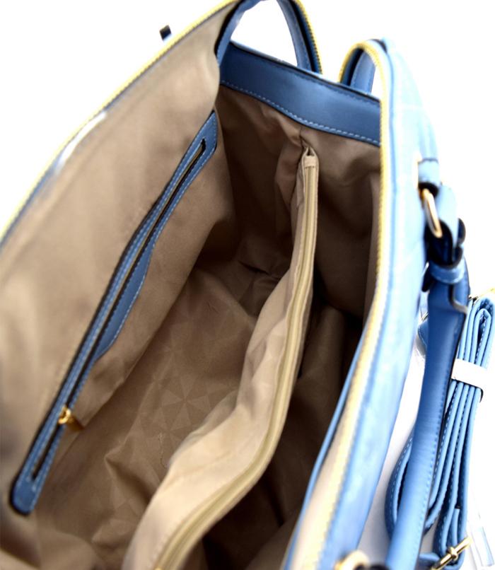 Martina Quilted Boxy Handbag Lt Blue3