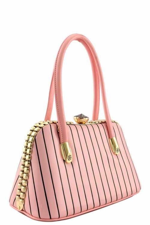 Gigi Pin Stripe Handbag XSmall Pink2