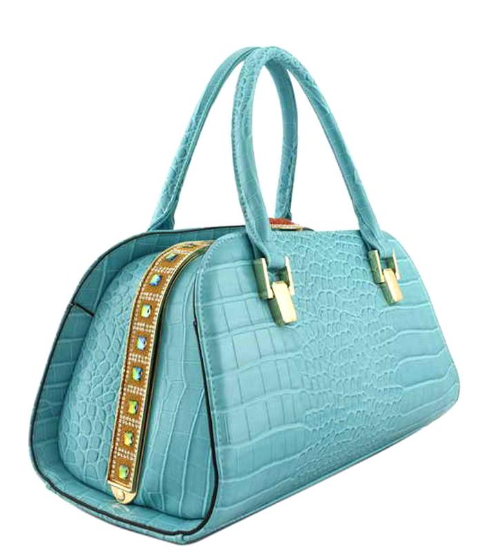 Keysha Crocodile Handbag Mint2
