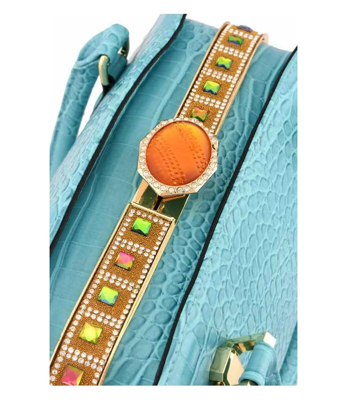 Keysha Crocodile Handbag