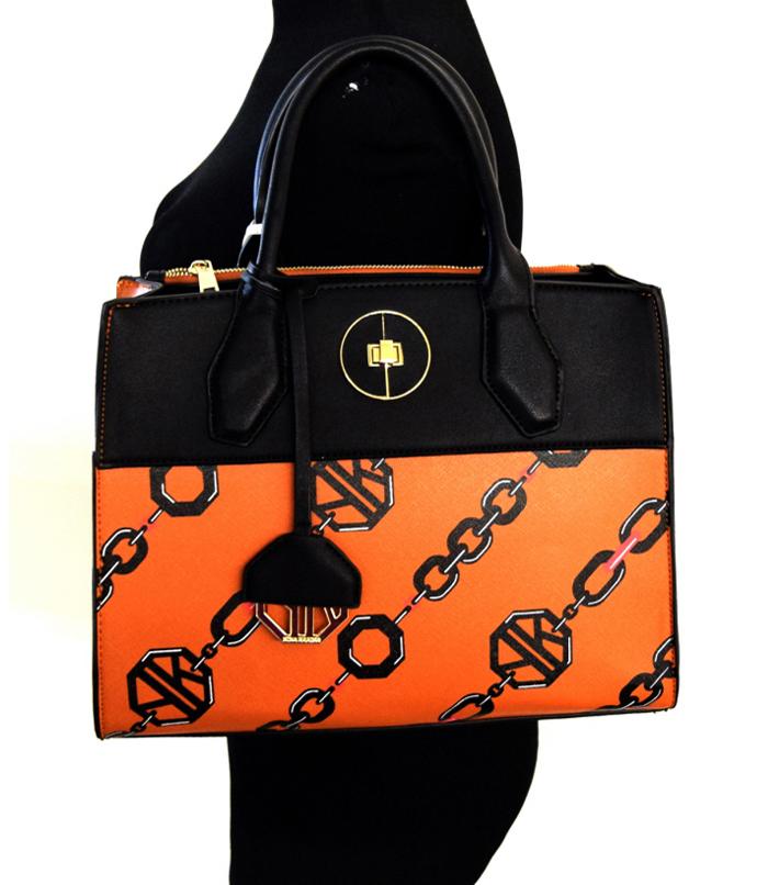 Abigail Large Chain link Handbag Tan2