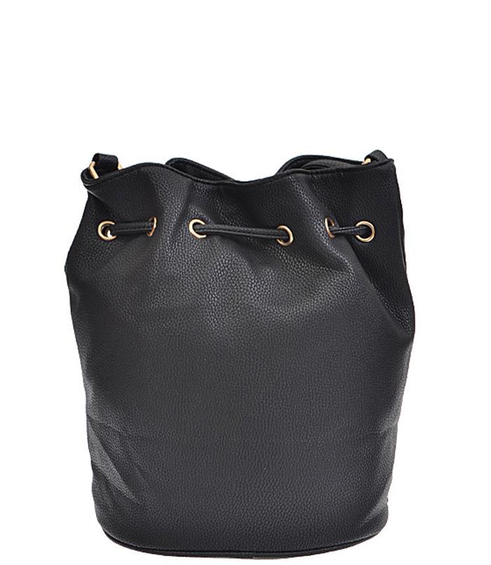 Kendall Studded Drawstring Bag Black2