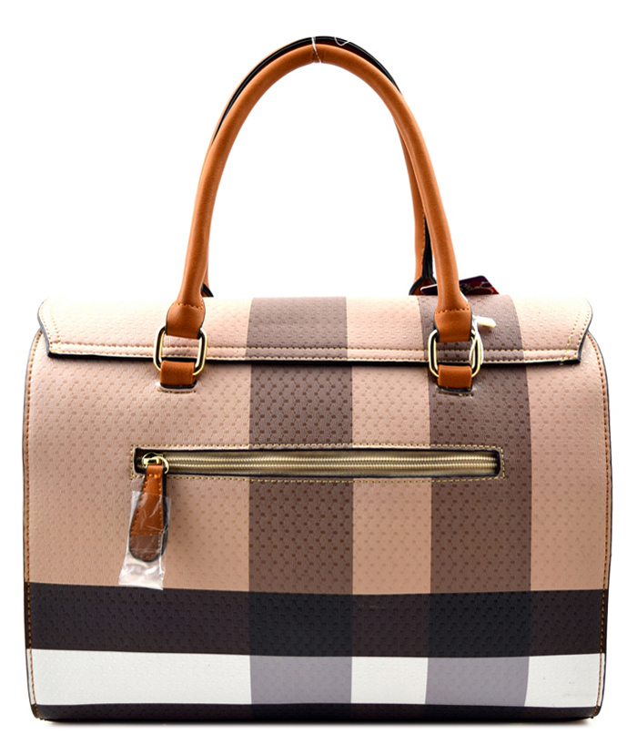 Olivia Plaid 2n1 Bag Tan3