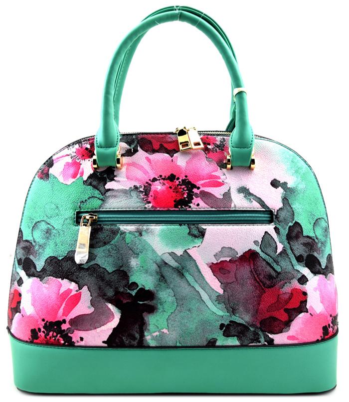Roma Floral 3n1 Handbag Green2