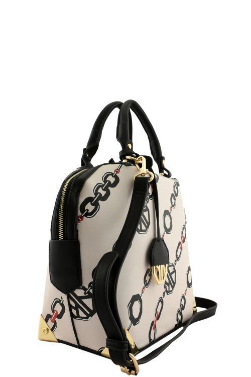 Abigail Emir Linked Chain Handbag Beige4