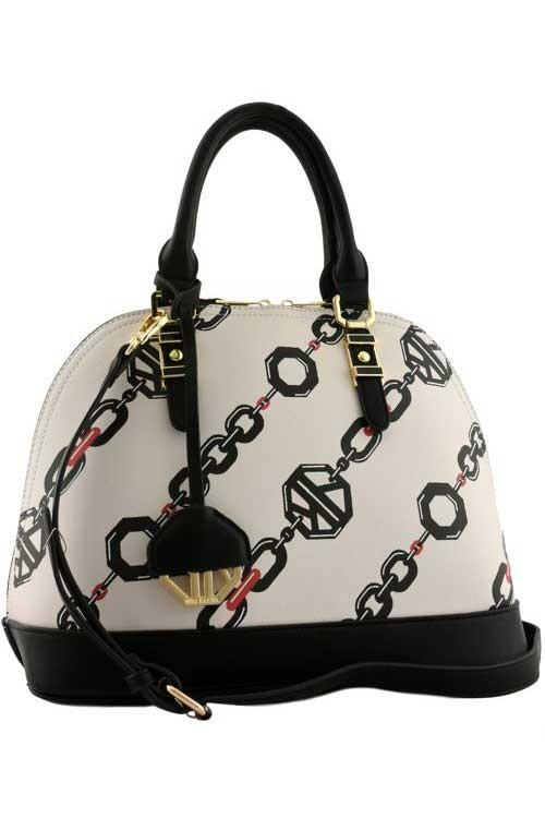Abigail Empress Linked Chain Handbag Beige2