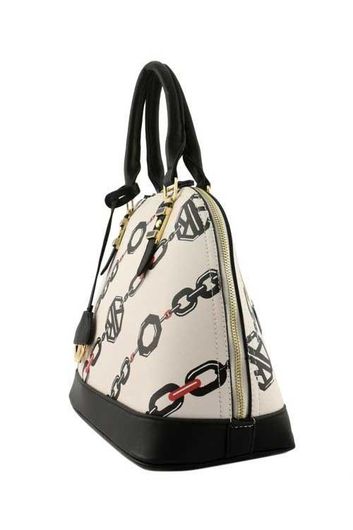 Abigail Empress Linked Chain Handbag Beige3