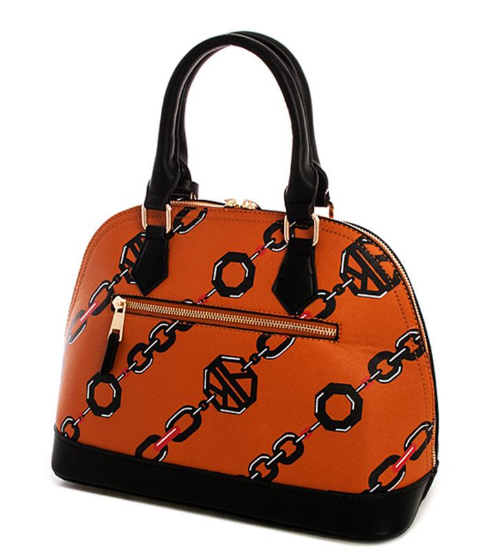Abigail Empress Linked Chain Handbag Tan2