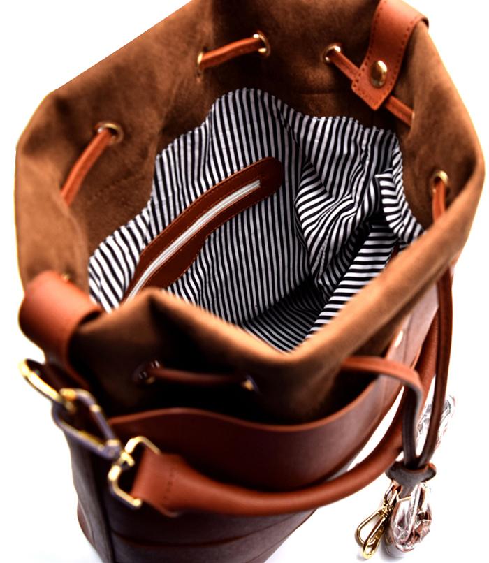 Autumn Drawstring Hobo Bag Brown3