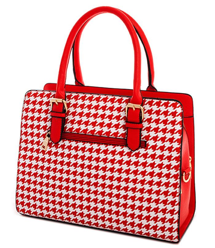 Carmen Coachella Houndstooth Bag Red2