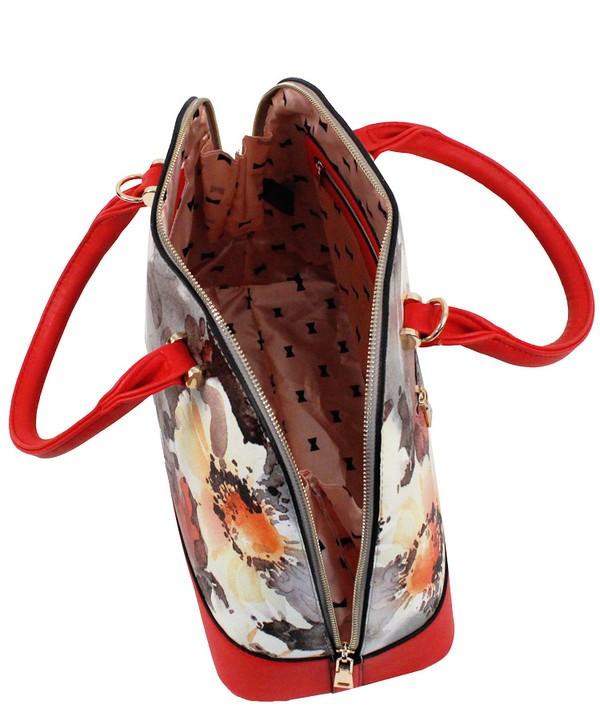 Roma Floral 3n1 Handbag Red7