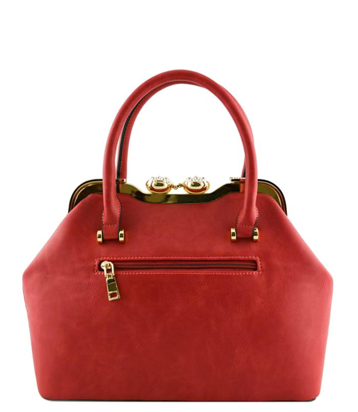 Jacqui Snakeskin Bag Red2