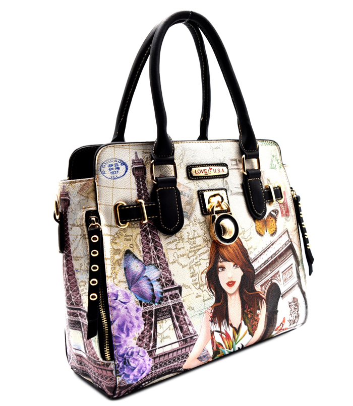 Katia Illustration Bag Black2