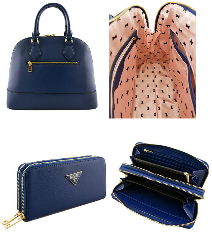 Melissa 2n1 Handbag Set Navy4