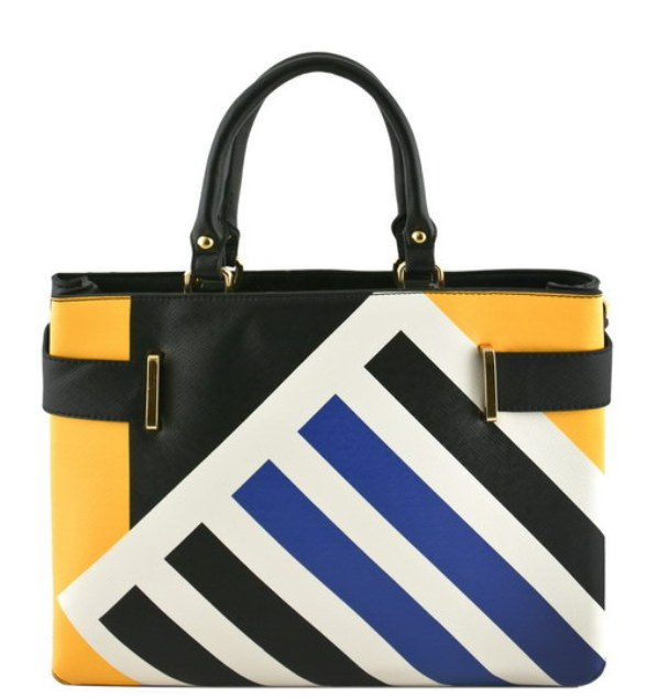 zelda-deco-stripe-tote-bag-black1